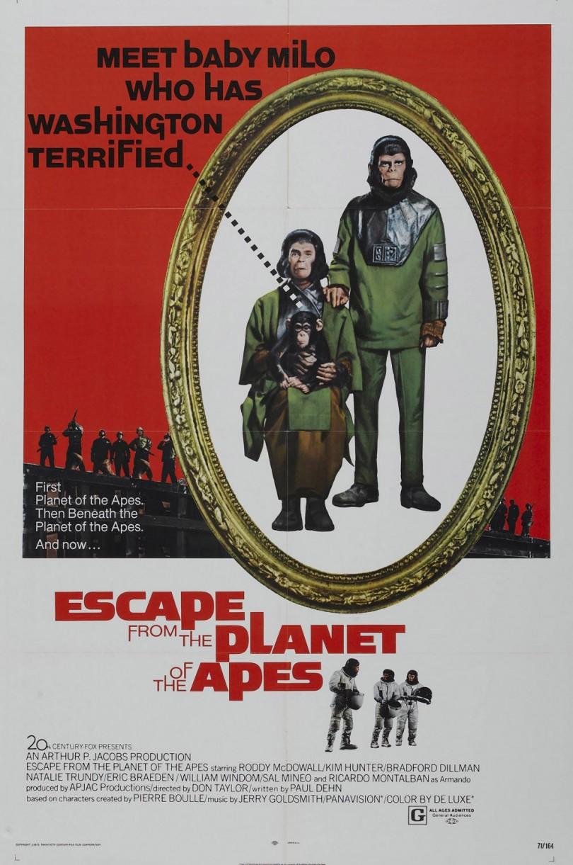 Cartaz original de Fuga do Planeta dos Macacos