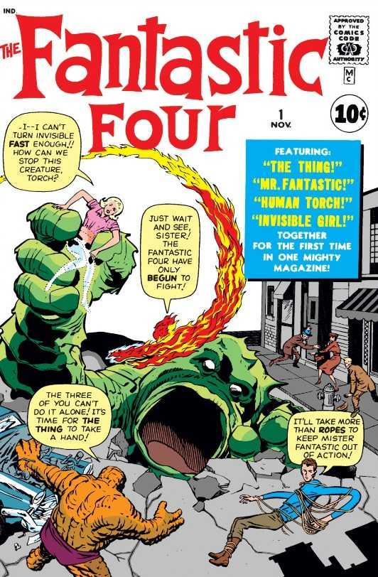 Capa de Fantastic Four #1 por Jack Kirby