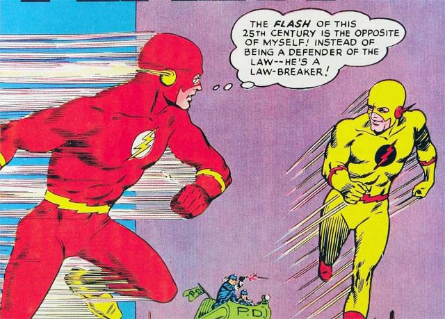 """""""O Flash do século 25 é o oposto de mim! Ao invés de ser um defensor da Lei... Ele é um bandido!"""""""