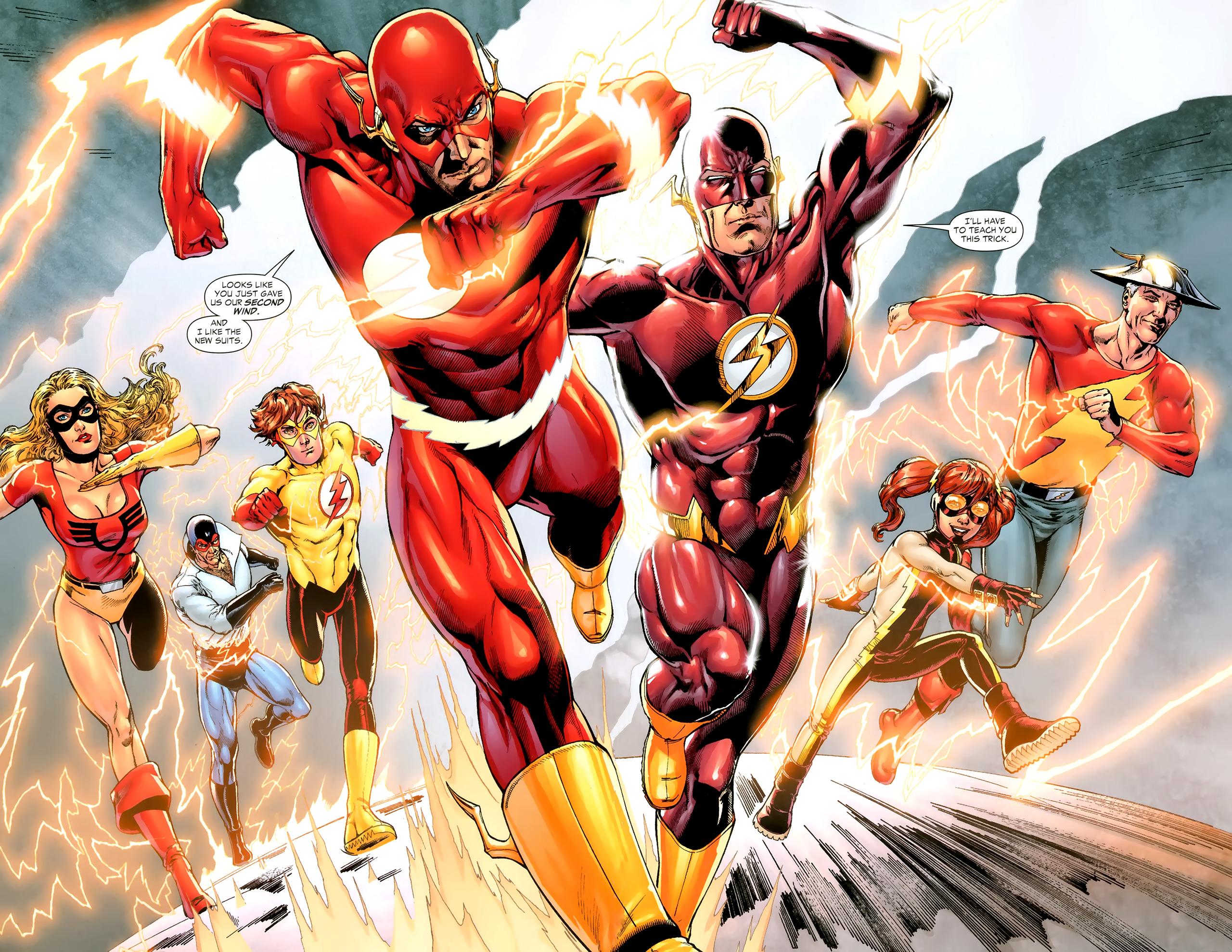 A Família Flash dos quadrinhos.