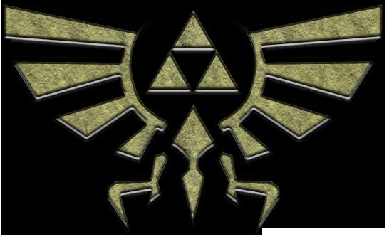 Brasão de Hyrule, uma mistura do símbolo da Deusa Hylia com a Triforça.