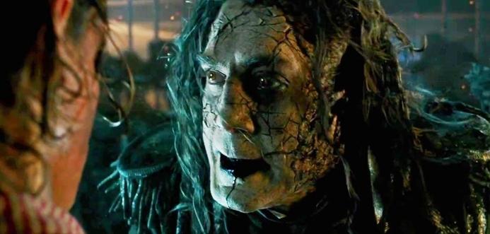 Salazar está em busca de vingança em novo filme do Capitão Sparrow.