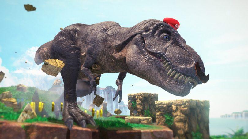 Seja um T-Rex em Super Mario Odissey