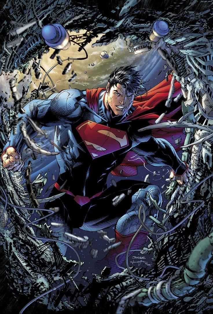 Capa de Superman Sem Limites por Jim Lee