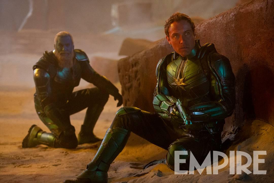 Talos e Jude Law em novas imagens de Capitã Marvel