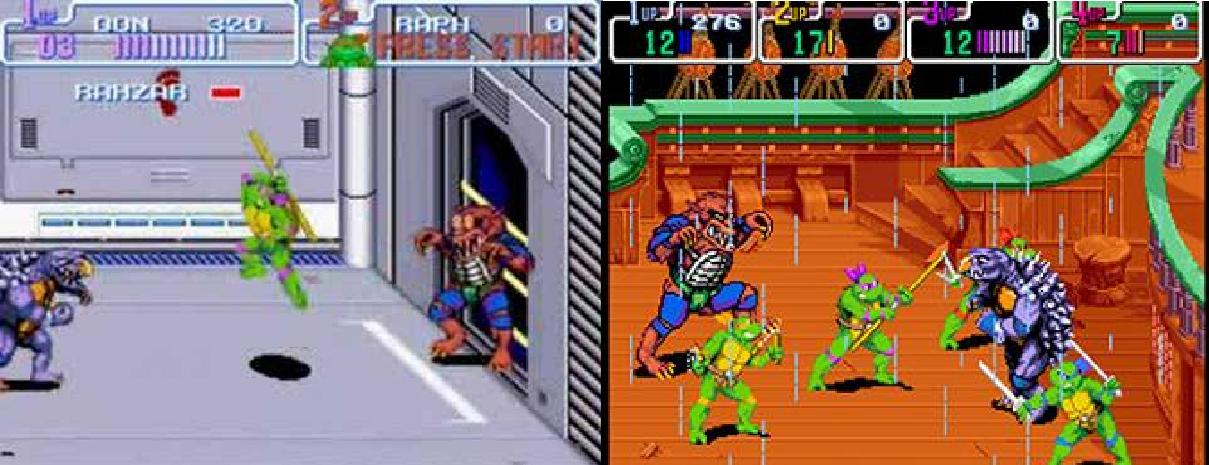Versão SNES/ Versão Arcade