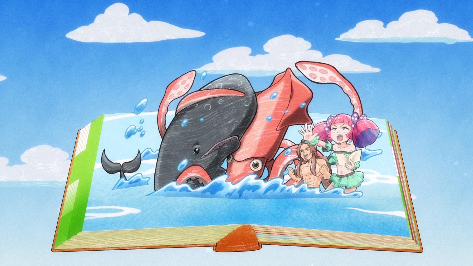 """Imagem do tema de encerramento do animê """"Heaven's Design Team"""""""